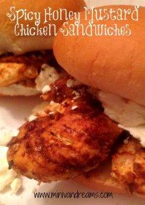 spicy honey mustard chicken sandwiches | Mini Van Dreams