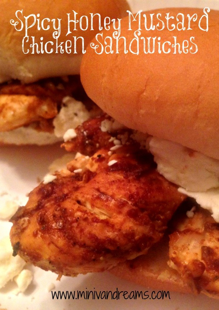 spicy honey mustard chicken sandwiches | Mini Van Dreams