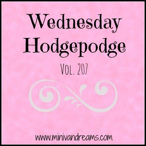 Wednesday Hodgepodge Vol. 207 | Mini Van Dreams