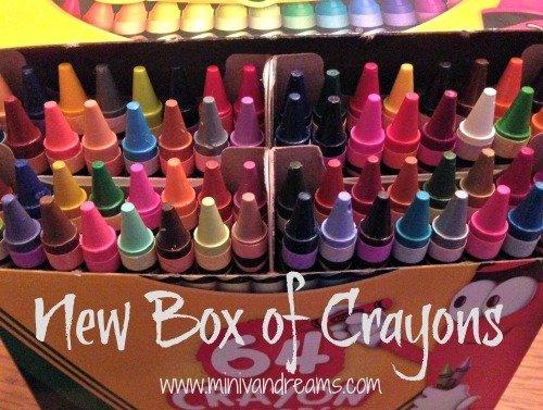 New Box of Crayons | Mini Van Dreams