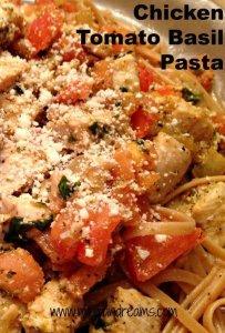 Chicken Tomato Basil Pasta   Mini Van Dreams