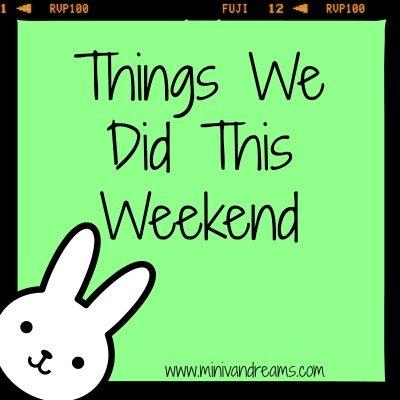Things We Did This Weekend  | Mini Van Dreams