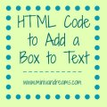 HTML Code to Add Box to Text | Mini Van Dreams