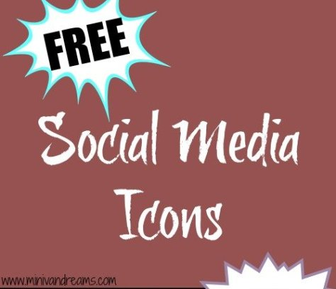 Free Social Media Icons: Marsala | Mini Van Dreams