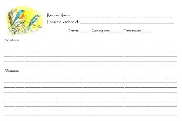 FREE Retro Songbird Recipe Cards | Mini Van Dreams