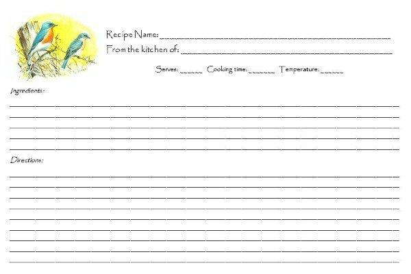 FREE Retro Songbird Recipe Cards   Mini Van Dreams