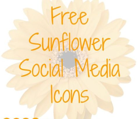 Free Sunflower Social Media Icons   Mini Van Dreams