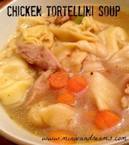 Chicken Tortellini Soup | Mini Van Dreams