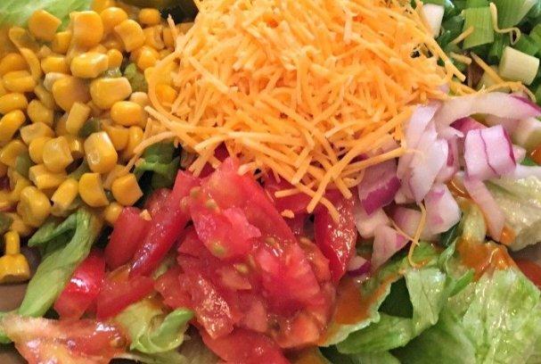 Chicken Fiesta Salad | Mini Van Dreams