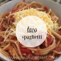 Taco Spaghetti   Mini Van Dreams