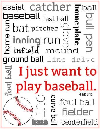 Baseball Subway Art Free Printable | Mini Van Dreams