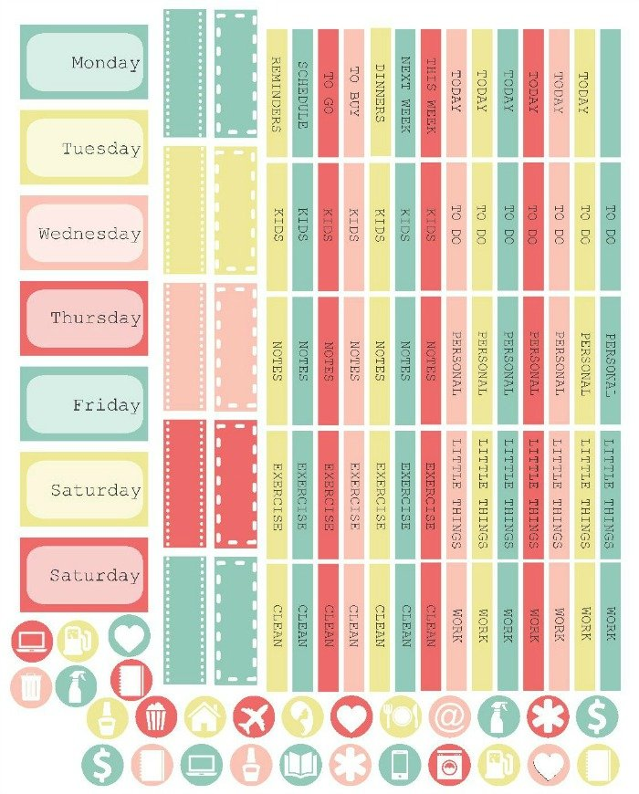 Free Printable Planner Stickers | Mini Van Dreams