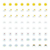 Free Printable Planner Stickers - Weather Icons