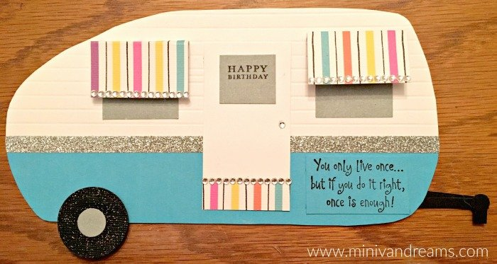Retro Camper Birthday Card Mini Van Dreams
