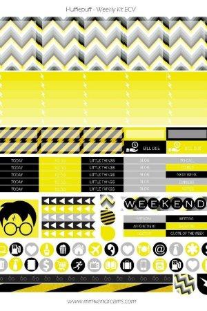 Free Printable Planner Stickers - Hufflepuff   Mini Van Dreams