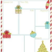Christmas Meal Planner Free Printable