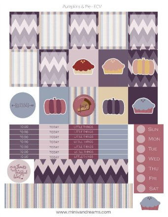Free Printable Planner Stickers - Pumpkins & Pie | Mini Van Dreams