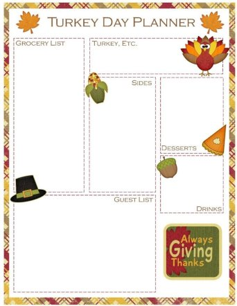 Thanksgiving Meal Planner Free Printable | Mini Van Dreams