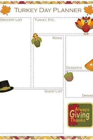 Thanksgiving Meal Planner Free Printable | Mini Van Dreams