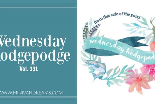 wednesday hodgepodge vol. 331   Mini Van Dreams