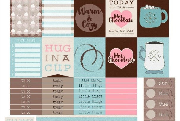 Free Printable Planner Stickers: For the Love of Chocolate | Mini Van Dreams