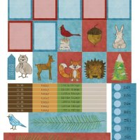 Free Printable Planner Stickers: Winter Woodland