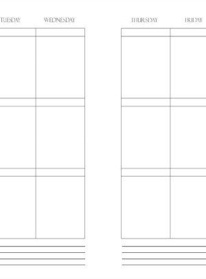 Free Printable Weekly Planner Insert | Mini Van Dreams