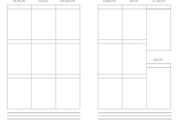 Free Printable Weekly Planner Insert | Mini Van Dreams
