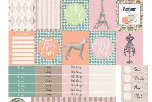 Free Printable Planner Stickers: Meet Me in Paris | Mini Van Dreams
