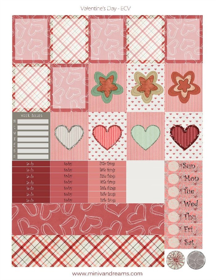 Free Printable Planner Stickers: Be My Valentine