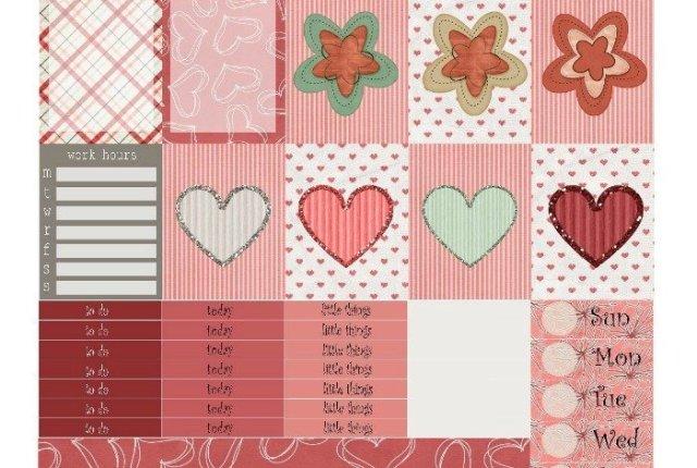 Free Printable Planner Stickers: Be My Valentines | Mini Van Dreams
