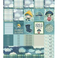 Free Printable Planner Stickers: Rainy Days