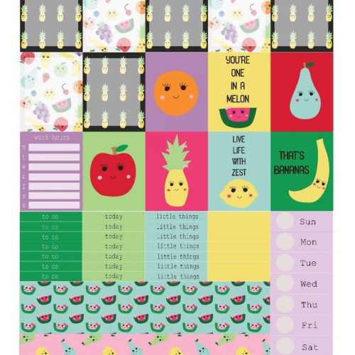 Free Printable Planner Stickers: Cute Fruits | Mini Van Dreams