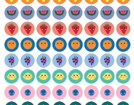 BONUS: Cute Fruit Stickers