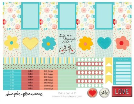 Free Printable Planner Stickers: Ride a Bike   Mini Van Dreams