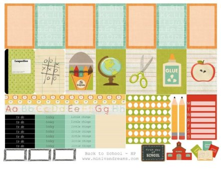 Free Printable Planner Stickers: Back to School   Mini Van Dreams