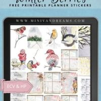 Winter Berries Free Printable Planner Stickers