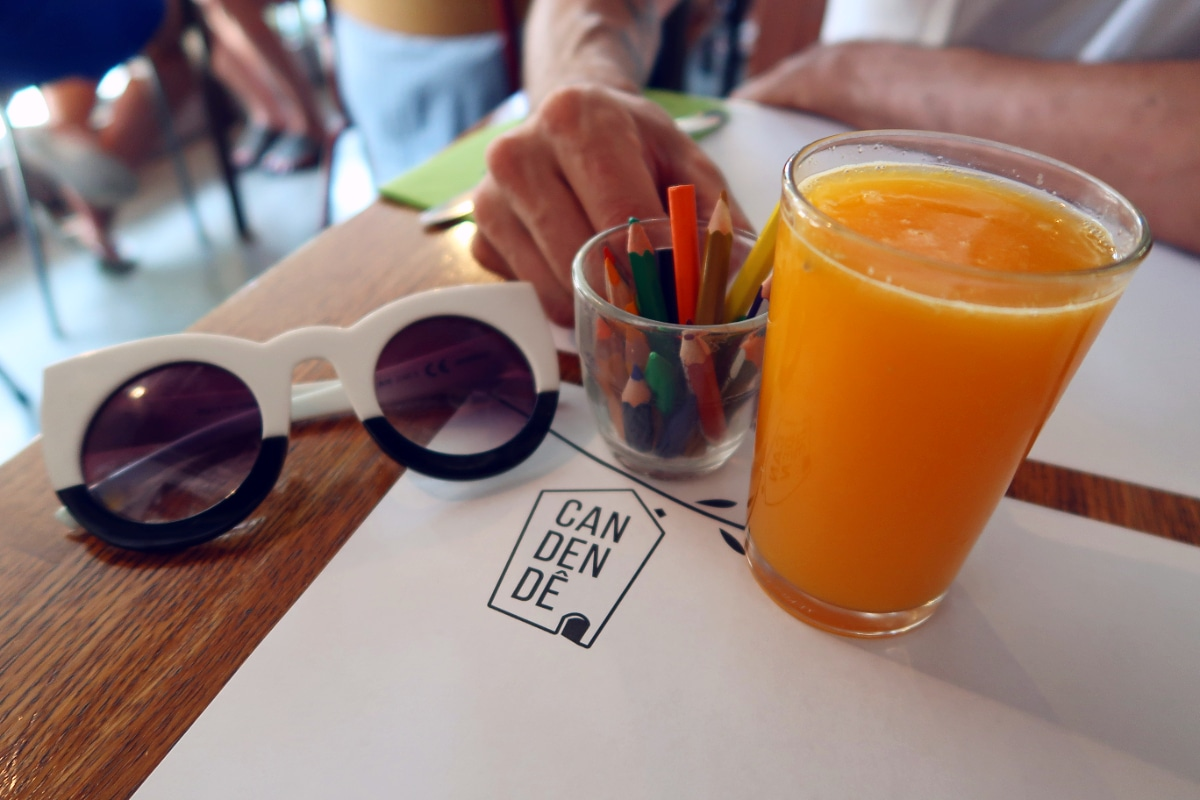 Best brunch in Barcelona @minkaguides Can Dendê pencils
