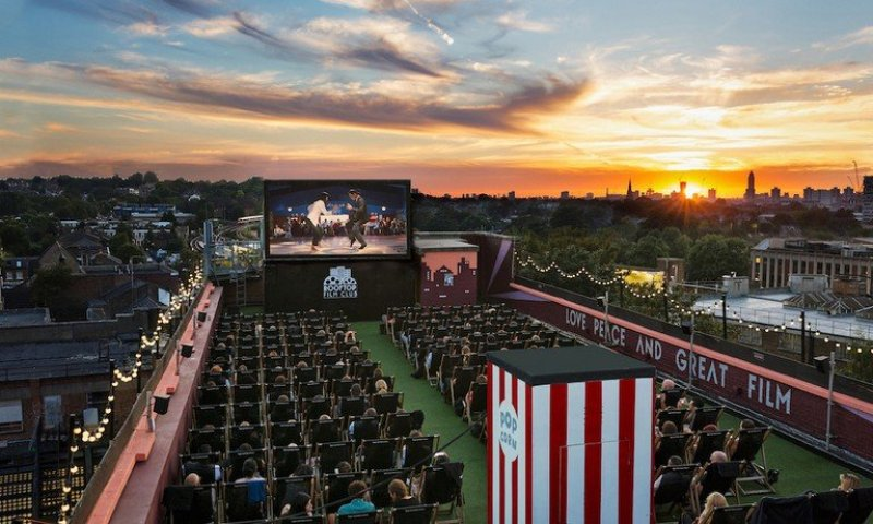 Things to do in London this summer @beltandbracespr Rooftop Cinema Film Club Peckham