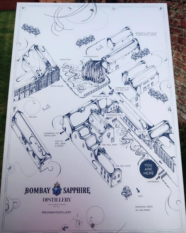 Bombay Sapphire Distillery tour @minkaguides map
