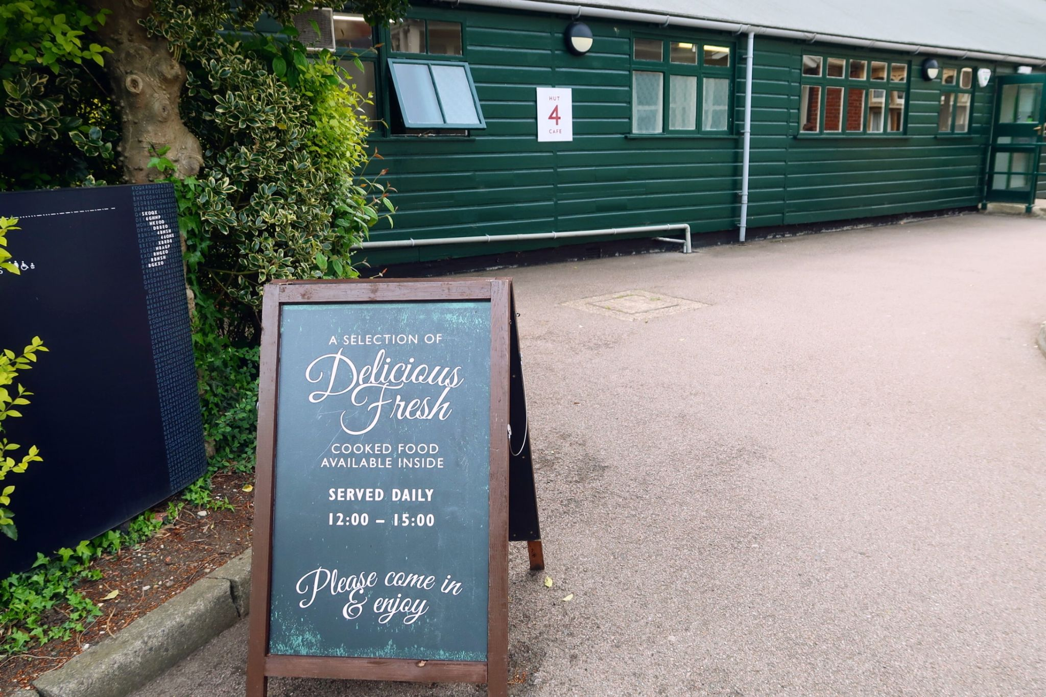 Bletchley Park Museum Hut 4 cafe exterior CREDIT_ © Minka Guides