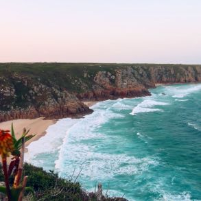 Cornwall itinerary - Porthcuno Beach near Minack Theatre CREDIT Minka Guides
