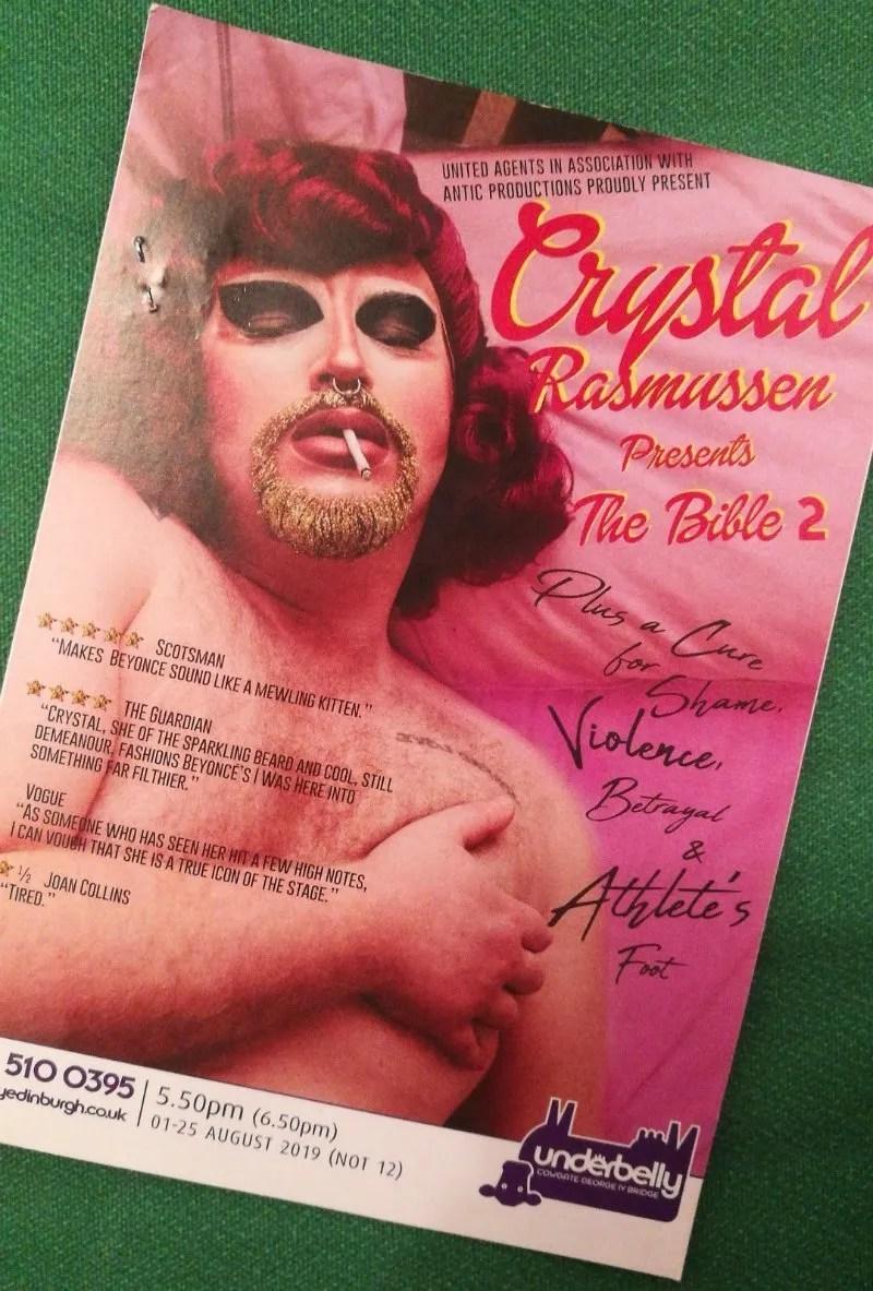 Queer Edinburgh Fringe Crystal Rasmusen flyer cropped CREDIT Minka Guides