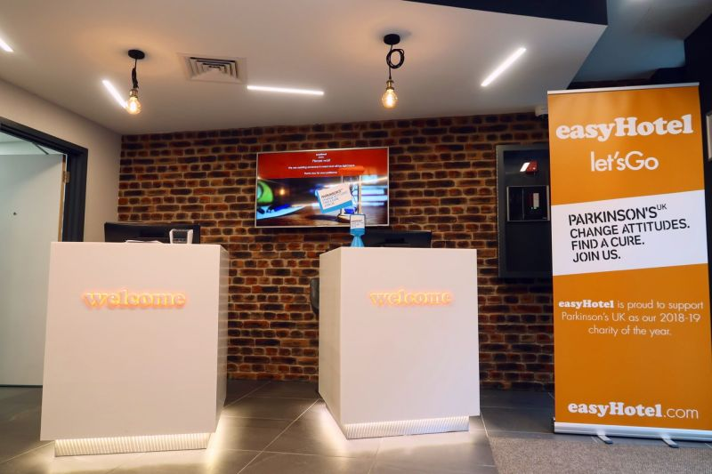 easyHotel Old Street reception CREDIT Minka Guides