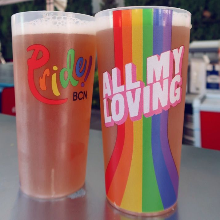 Barcelona Pride 2018 cups CREDIT Minka Guides