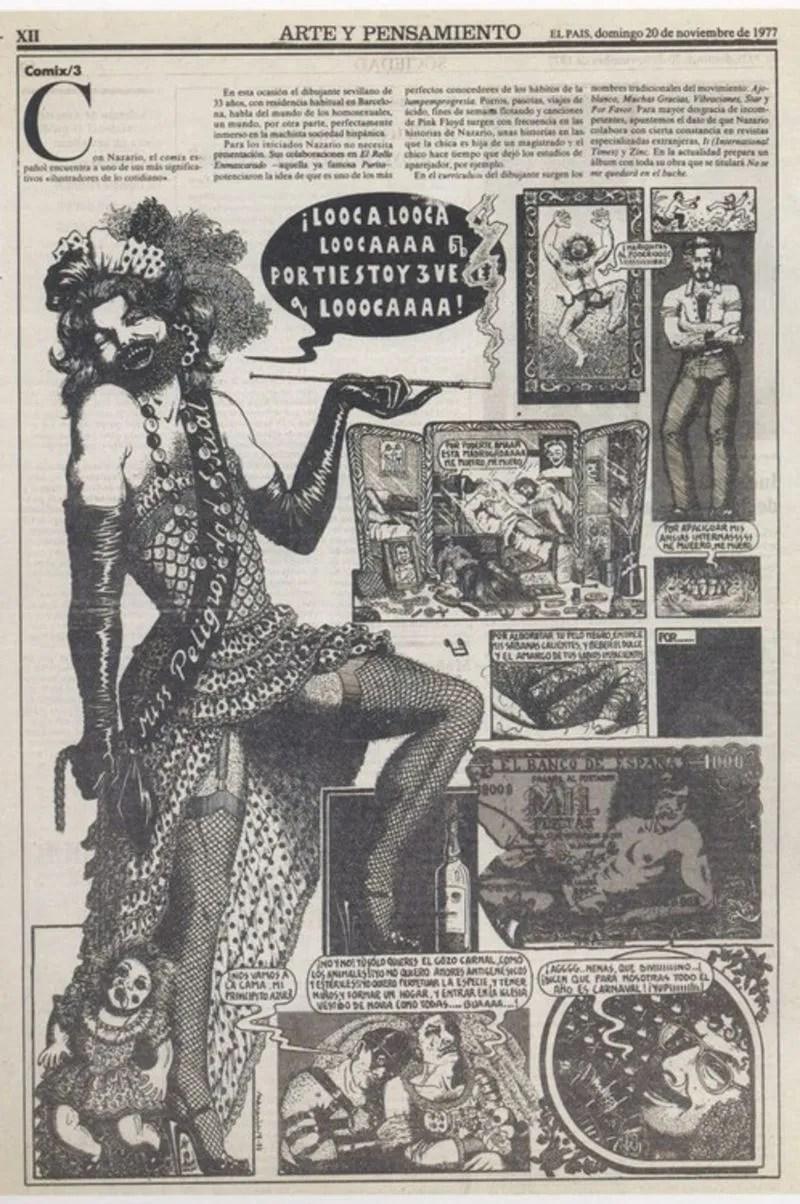 Barcelona Pride Nazario Drawing CREDIT published in El País 20 November 1977