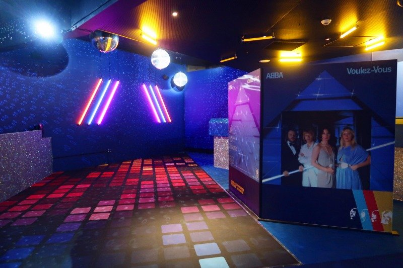 ABBA Super Troupers exhibition disco dance floor CREDIT Minka Guides_picmonkeyed