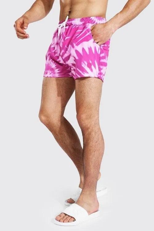 Cute swimsuits - Boohoo Swirl Tie Dye Short Length Swim Shorts CREDIT Boohoo