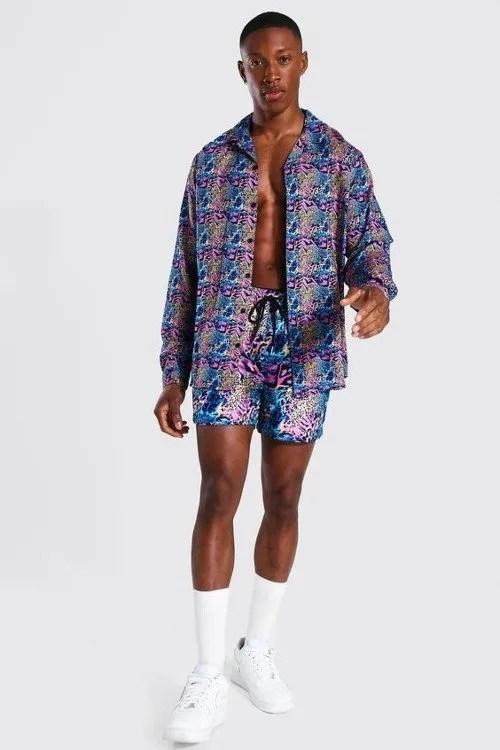 Cute swimsuits - Boohoo Viscose Long Sleeve Animal Shirt And Swim CREDIT Boohoo