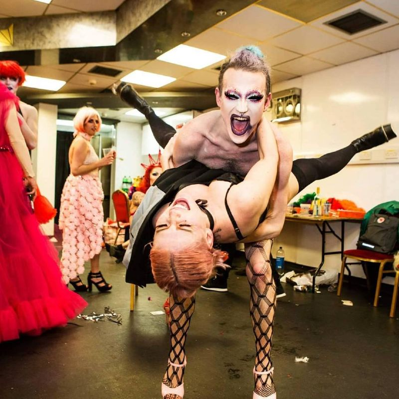 Doing drag - Fanny Minka backstage at Sink The Pink with Bougie CREDIT Thomas Dhanens